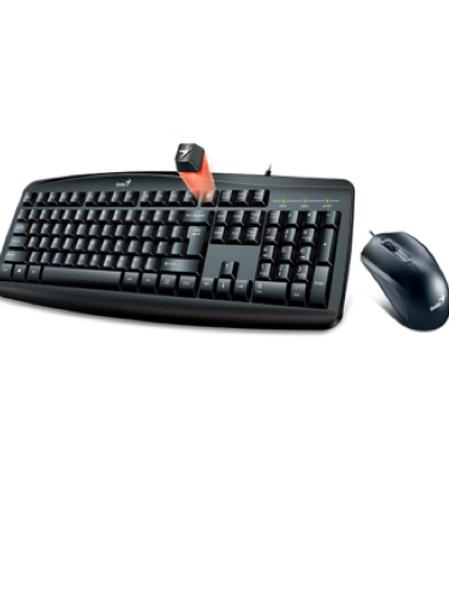 Combo Genius KM-200 Alámbrico, mouse y teclado, Smart Genius