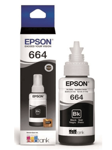 Botella de tinta negra  T664120-AL
