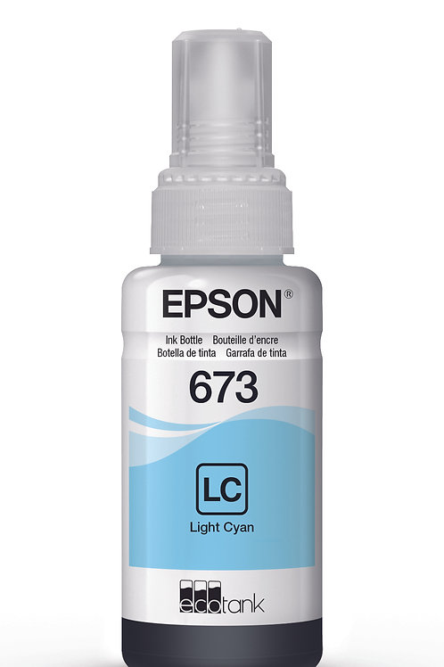 Botella De Tinta Epson T673 Cian claro
