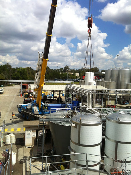 installation process material handling equipment