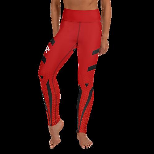 Firestorm Galaxy Genesis Yoga Leggings Unit 02 - Red