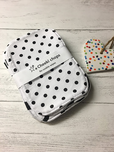 Reusable wet wipes-Cloth baby wipes-Monochrome mix