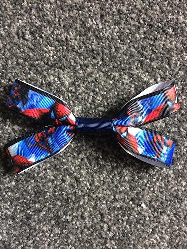 Spiderman hair bow