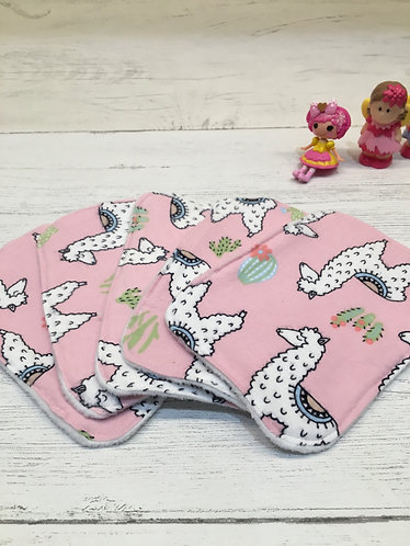 Reusable cotton wet wipes -cloth baby wipes-llama print