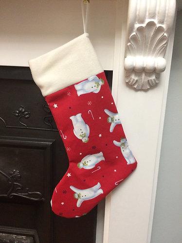 snowman inspired christmas stocking