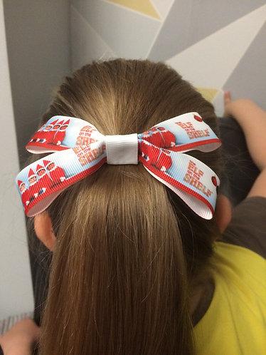 "Cheeki chops Elf on the shelf inspired hair bow 4"" approx"