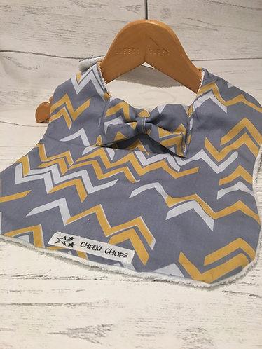 Cheeki chops handmade baby accessories baby bow tie bib