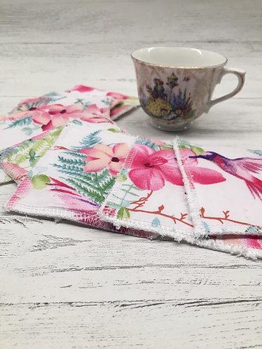 Reusable cotton face pads -square-Tropical print