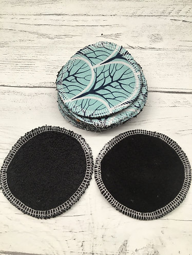 Facial cleansing pads-reusable cotton face pads -black backing