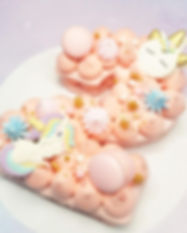 Monogram Number 2 Unicorn Customised Macarons.