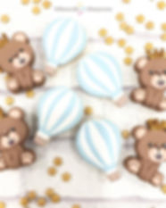Bear and Hotair balloons customised macarons