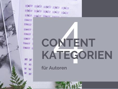 4 Content-Kategorien für Autoren, die euch unbegrenzte Post-Ideen liefern