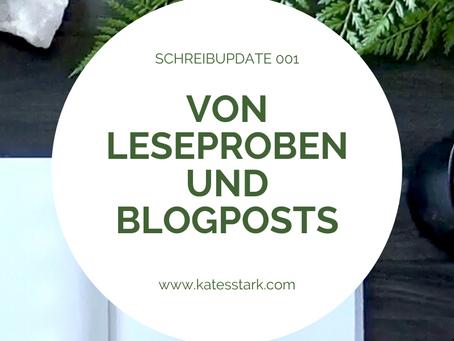 Von Leseproben und Blogposts | Schreibupdate 001
