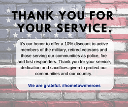 Military & First Reponder Discount