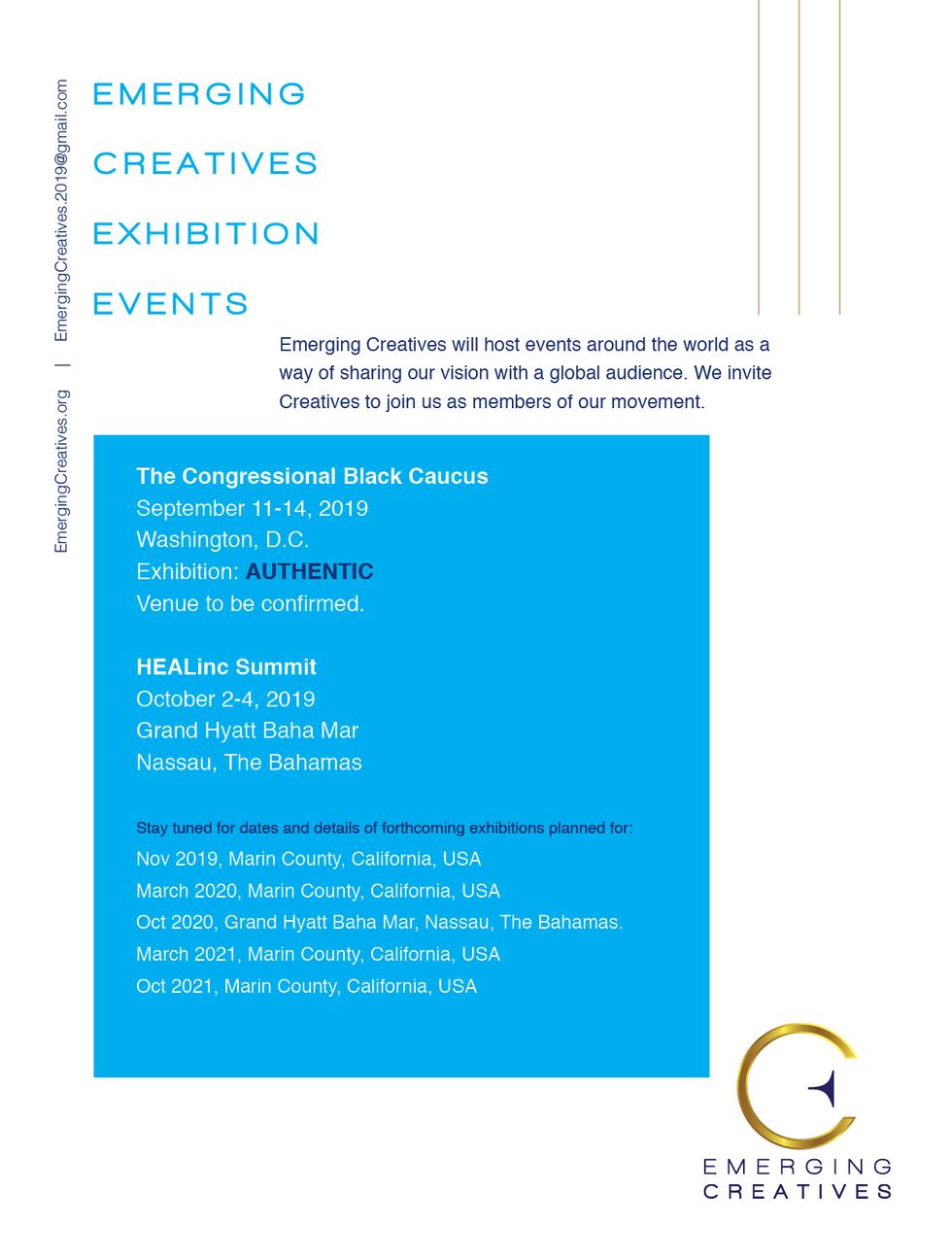 Emerging Creatives Sponsorship Exhibitio
