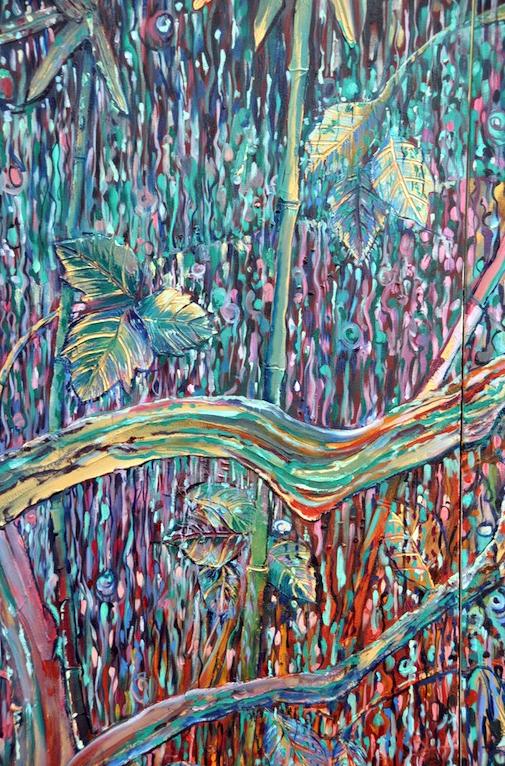 Triptych: Swollen Stream (close up)
