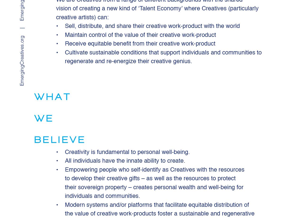 Emerging Creatives Sponsorship Who We R