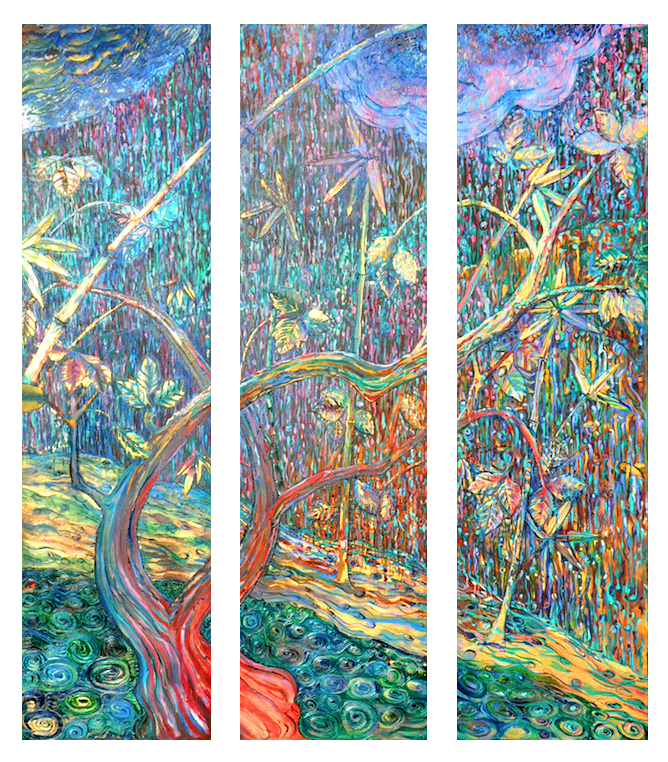 Triptych: Swollen Stream