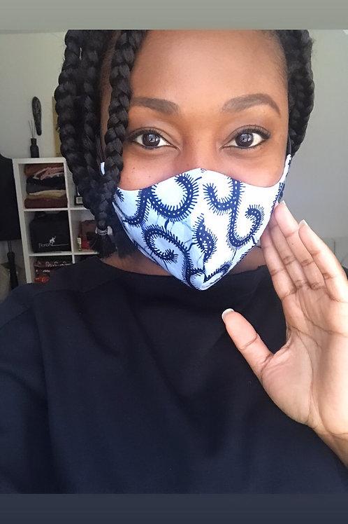 Mund- und Nasenmaske Blue
