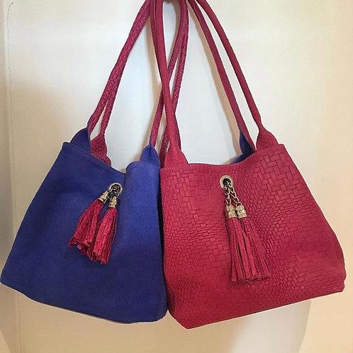 Reversible Suede Handbag