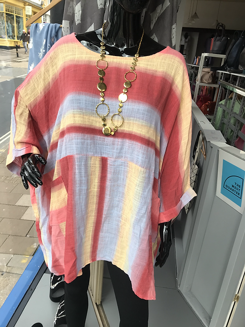 Ombré Linen Tunic