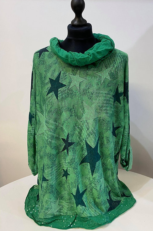 Star Long Sleeve with Scarf