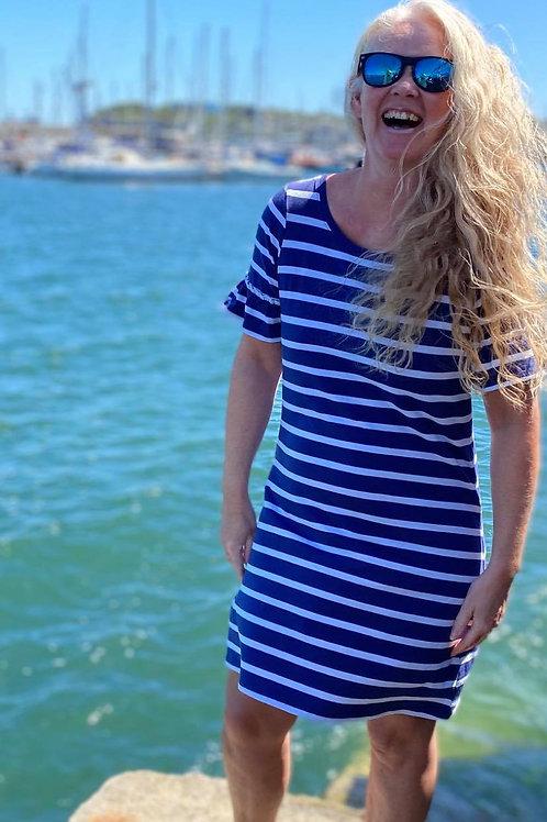 Hatley Kelli Dress Patriot Blue Stripes