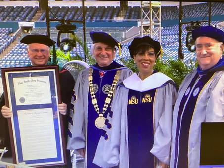 Dr. Noris Price Keynote Speaker at Nova Southeastern University; Receives Honorary Doctorate Degree