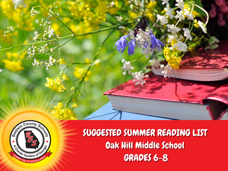 Oak Hill Middle School Suggested Summer Reading List