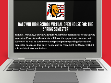 Baldwin High School to Host Virtual Open House for Spring Semester