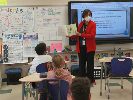Dr. Noris Price Visits Lakeview Academy as Mystery Reader