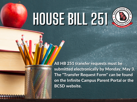 HB 251 Transfer Requests Due May 3