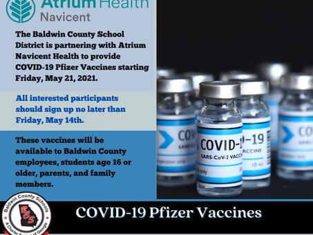 COVID-19 Pfizer Vaccine Available
