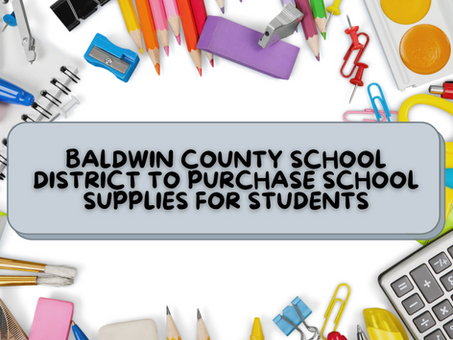 BCSD to Purchase School Supplies for Students