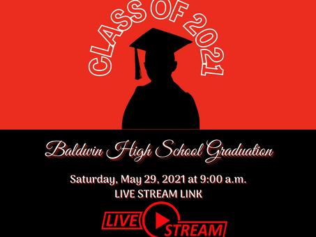 Baldwin High School Graduation Live Stream Link