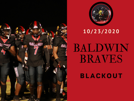BLACKOUT Night at Baldwin Braves Game against West Laurens