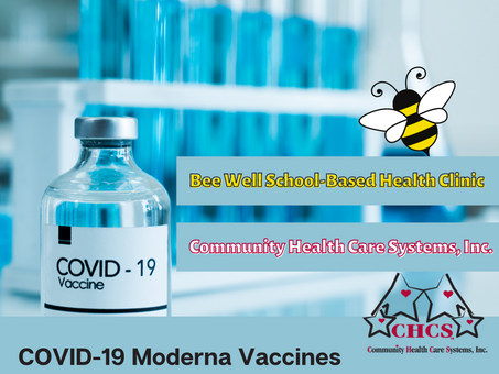 Moderna COVID-19 Vaccines at Bee Well Health Clinic