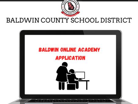 Baldwin Online Academy Application