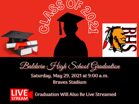 Baldwin High School Class of 2021 Graduation Information