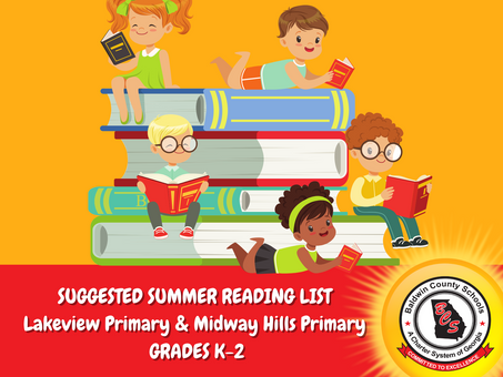 Lakeview Primary and Midway Hills Primary Suggested Summer Reading List
