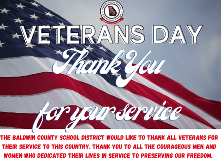 BCSD Thanks Veterans for Their Service on Veterans Day