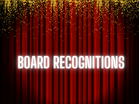 January Board Recognitions