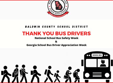 BCSD Celebrates Georgia School Bus Driver Appreciation Week and National Bus Safety Week