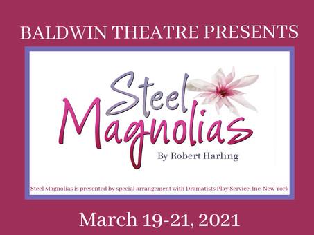 Baldwin Theatre's Performance of Steel Magnolias Begins Tonight