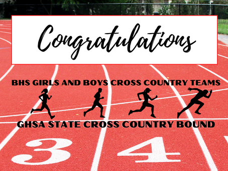 BHS Girls and Boys Cross Country Teams Headed to State Meet