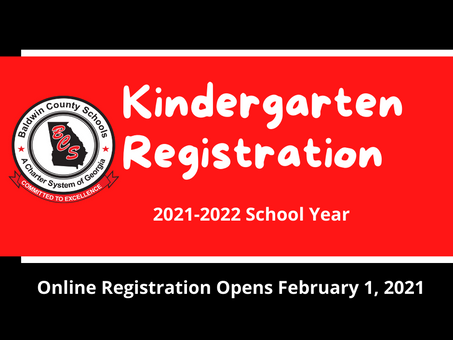 Online Kindergarten Registration Opens February 1