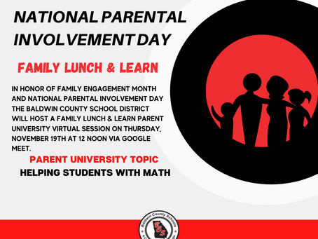 BCSD to Host Family Lunch & Learn Event on National Parental Involvement Day