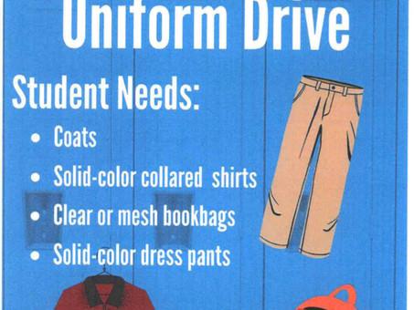 Communities In Schools Uniform Drive