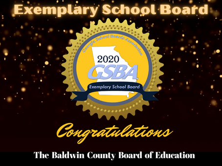 BCSD Board Receives Exemplary Honor