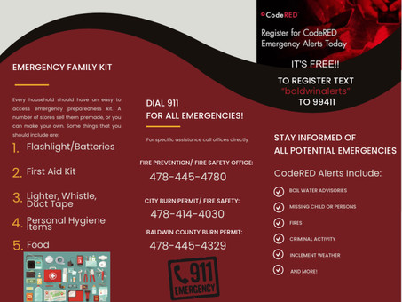Emergency Family Kit & Baldwin County Emergency Alert Info